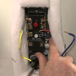 Stupendous How To Replace A Water Heater Thermostat Water Heater Hub Wiring 101 Cranwise Assnl