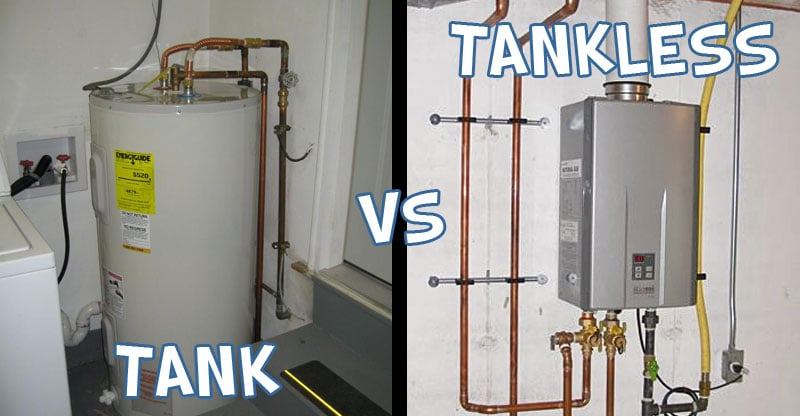 tankless vs tank type water heater | water heater hub