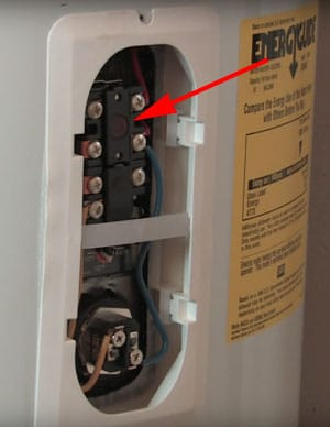 help! my electric water heater thermostat keeps tripping george braziltrips when the water temperature exceeds 180° f the reset button is sometimes referred to as the \u201ceco\u201d (emergency cut off) or \u201chigh limit switch\u201d