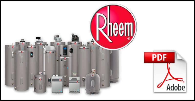 Rheem Water Heater Manuals Hub