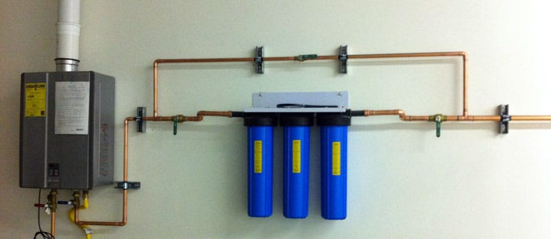 inline tankless water heater filter