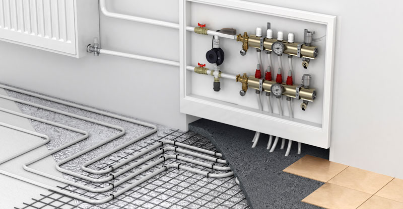 how does hydronic radiant floor heating work?