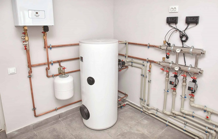 expansion tank installation place