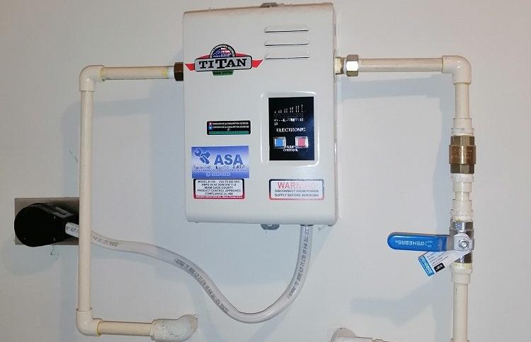 titan n-120 installed on wall